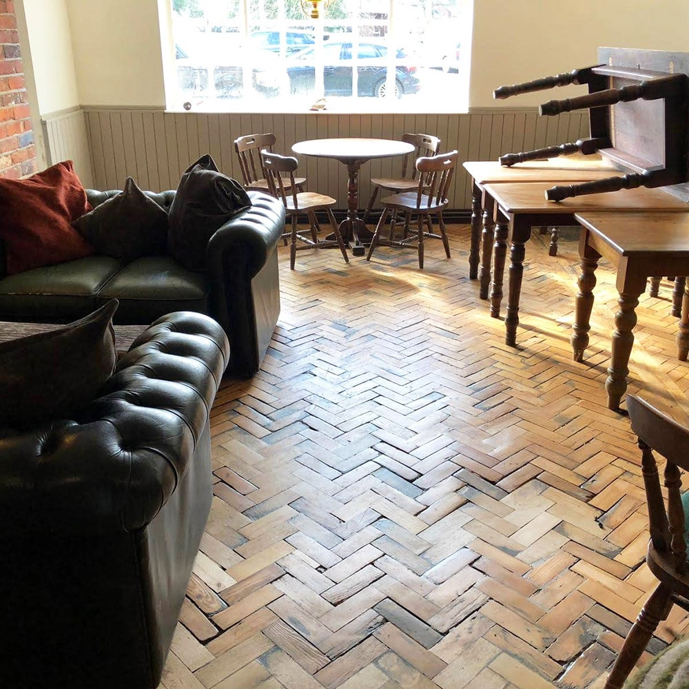 Parquet Floor Restoration for a Pub