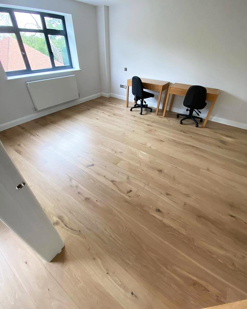 Wooden Oak Floors in an Office Space