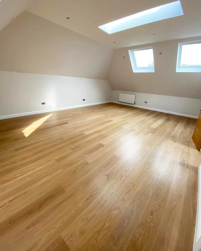 A Newly Installed Engineered Oak Floor