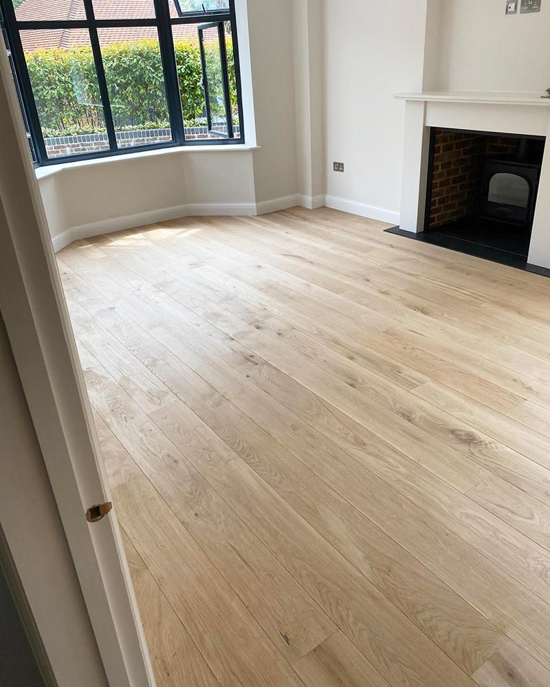 New Engineered Oak Flooring in Living Room